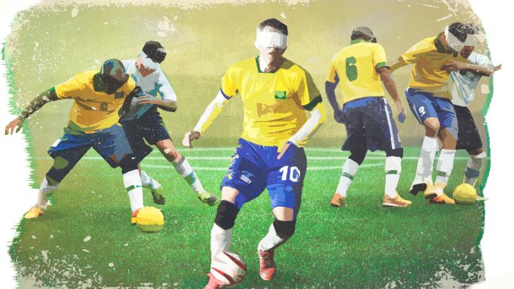 Arte sobre o futebol de cinco